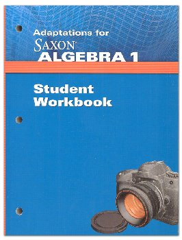 Algebra 1 Adaptations Student Workbook 4th Edition