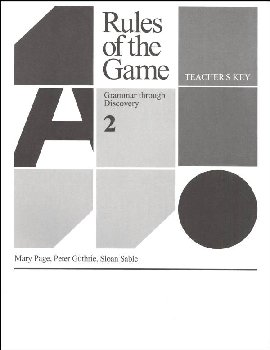 Rules of the Game Book 2 Teacher key