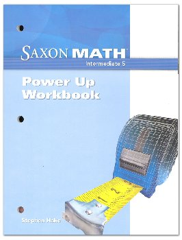 Saxon Math Intermediate 5 Power Up Workbook