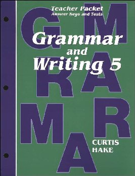 Grammar & Writing 5 Teacher Packet 1st Edition