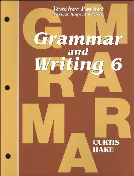 Grammar & Writing 6 Teacher Packet 1st Edition