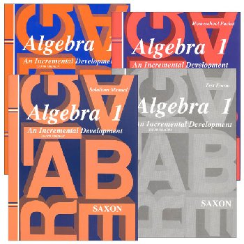 Algebra 1 Homeschool Kit with Solutions Manual 3rd Edition