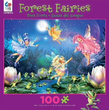 Forest Fairies (Assorted Style) 100 Piece Puzzle