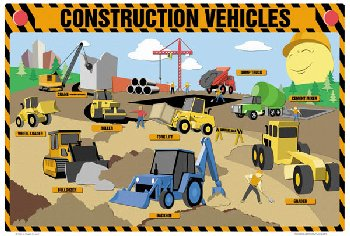 Construction Vehicles Placemat