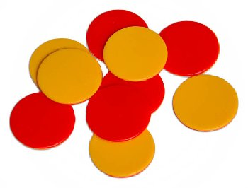 2-Colored Plastic Counters - SET OF 10