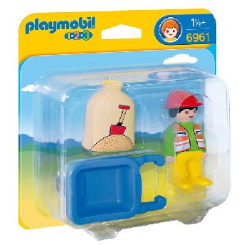 Worker With Wheelbarrow (Playmobil 1-2-3)