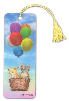 Kitty Up 3D Bookmark