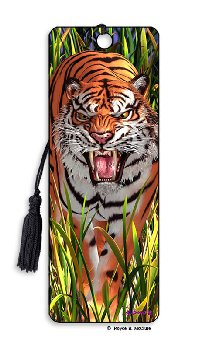 Tiger Trouble 3D Bookmark
