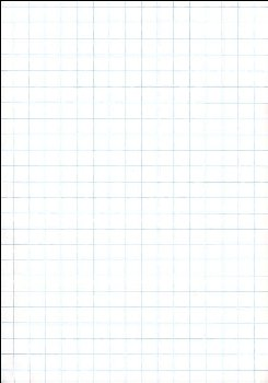 "Ruled Cross Section Drawing Paper - White 1/2"" Ruled, Approximately 100 Sheets"