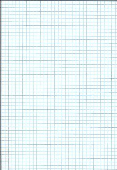 "Ruled Cross Section Drawing Paper - White 1/4"" Ruled, Approximately 100 Sheets"