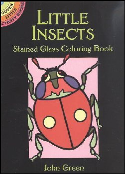Insects Little Stained Glass Coloring Book