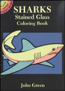 Sharks Little Stained Glass Coloring Book