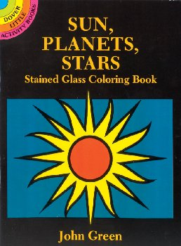 Sun, Planets, Stars Little Stained Glass Coloring Book