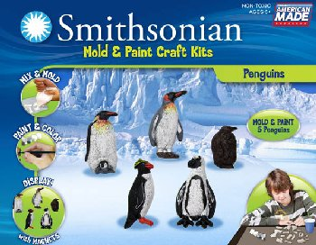 Smithsonian Mold & Paint Kit - Penguins