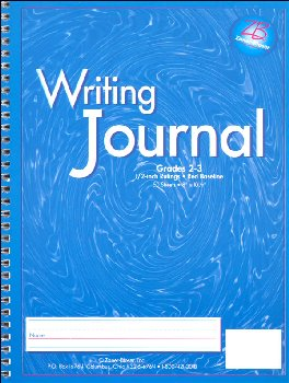 "Writing Journal Z/B Blue, Gr. 2-3, 1/2"" rule"
