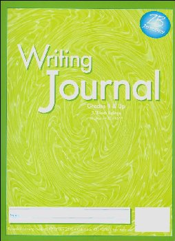 "Writing Journal Z/B Green, Gr. 4+, 3/8"" rule"
