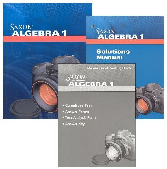 Algebra 1 Homeschool Kit With Solutions Manual (4th Edition)