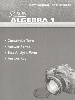 Algebra 1 Homeschool Testing Book (4th Edition)