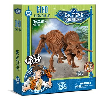 Dino Excavation Kit - Triceratops Skeleton (12 Pieces)