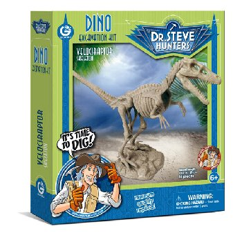 Dino Excavation Kit - Velociraptor Skeleton (14 Pieces)