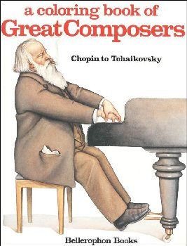 Chopin to Tchaikovsky Composers Coloring Book