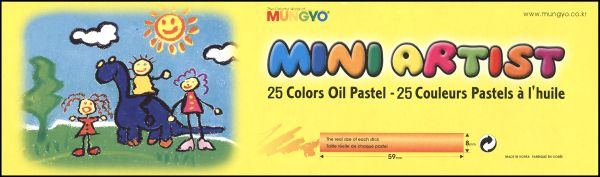 Mungyo Mini Artist Oil Pastels 25 color set