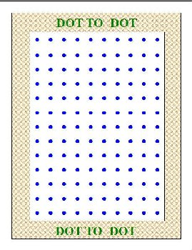 Dot to Dot (4 x 6 Laminated Write and Wipe Game Board)
