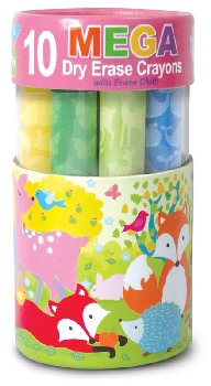 Dry Erase Mega Crayons - Fox & Woodland Animals
