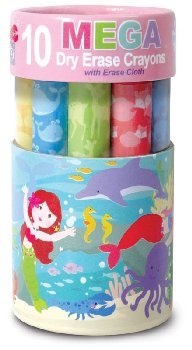 Dry Erase Mega Crayons - Magical Mermaids