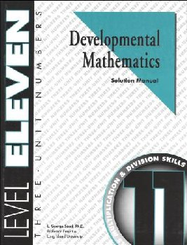 Developmental Math Level 11 Solution Manual
