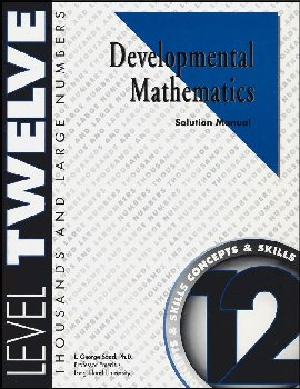 Developmental Math Level 12 Solution Manual