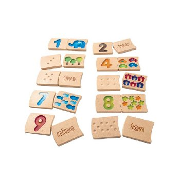 Numbers 1-10 Wooden Tile Set