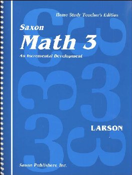 Saxon Math 3 Teacher's Edition