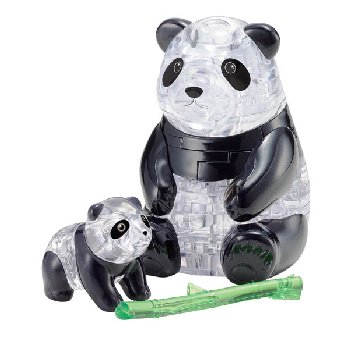 3D Crystal Puzzle - Panda & Baby