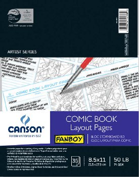 Canson Comic Book Layout Pages
