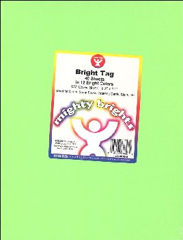 "Bright Tag - 48 Acid Free Sheets in 12 Assorted Colors (8½""  x 11"")"