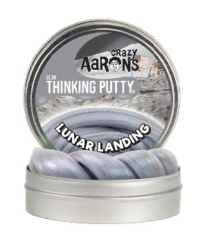 "Lunar Landing Putty 4"" Tin with Glow Charger (Glow in the Dark)"