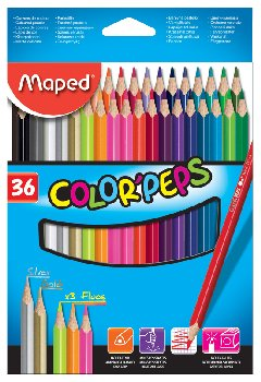 Color Pep's Colored Pencils (Pack of 36)