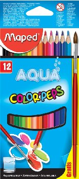 Color Pep's Water Coloured Pencils with Paintbrush (Pack of 12)