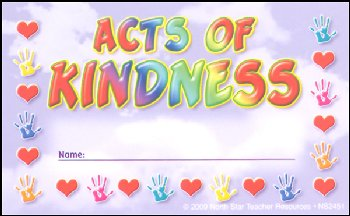 Acts of Kindness Incentive Punch Card