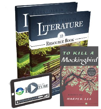 Essentials in Literature Level 10 Bundle (Textbook, Resource Book, Novel, and Online Video Subscription)