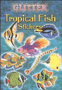Glitter Tropical Fish Stickers