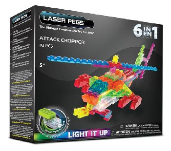 Laser Pegs Construction Bricks 6 in 1 - Zippy Do Attack Chopper