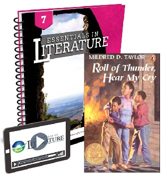 Essentials in Literature Level 7 Bundle (Textbook, Teacher Handbook, Novel, and Online Video Subscription)