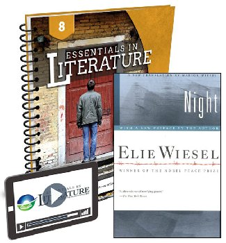 Essentials in Literature Level 8 Bundle (Textbook, Teacher Handbook, Novel, and Online Video Subscription)