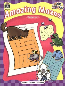 Amazing Mazes - Start to Finish Grades K-1