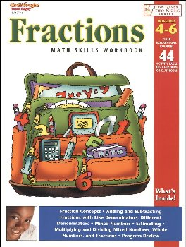 Fractions Math Skills Workbook