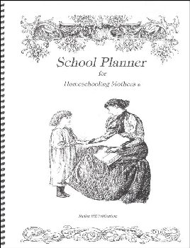 Schooling Planner for Homeschooling Mothers - White