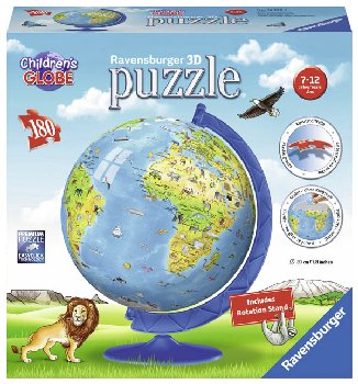 Children's Globe 3D Puzzle with Stand (180 pieces)