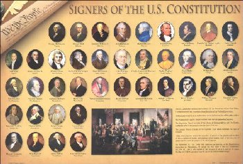 Signers of the U.S. Constitution Placemat